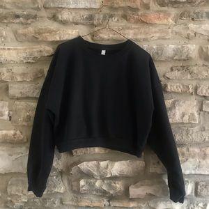 Black American Apparel Crop Sweater
